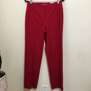 CHICO'S capital stretch caba pants in red N9